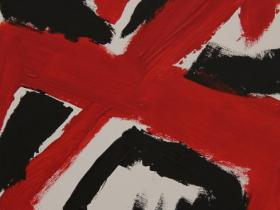 Coalition of Red and Black II. (2009) | Acryl on Canvas | 40cm x 60cm