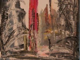 War in Lebanon (1982) | Gouache on Paper | 48 x 36 cm