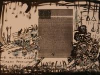 6 Millionen Juden (1988) | Mixed Technique | 46 x 63 cm