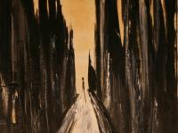 Alone XII. (1996)   Oil on Canvas   75 x 60 cm