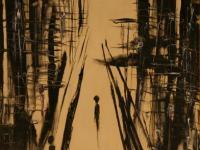 Alone in N.Y. II.   Oil on Canvas (1964)   92 x 60 cm