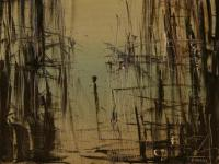 Alone X. (1992)   Oil on Canvas   65 x 50 cm