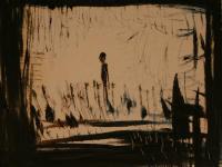 Woman alone II. (1992)   Oil on Canvas   38 x 46 cm