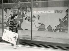 Soshana with painting | Paris 1956