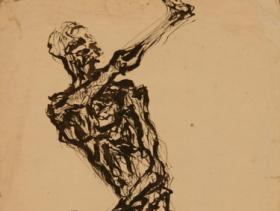 Imagine Giacometti Naked! | Ink on Paper (1955) | 33 x 21 cm