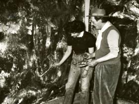 Soshana & Pinot Gallizio at work | Alba de Piemonte 1960