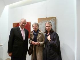 "Amos Schueller, Stella Rollig - Director of Lentos Museum Linz & Sabine Fellner - Curator of ""Der Nackte Mann"" Lentos Museum Linz"