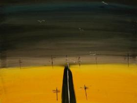 Road (1990) | Acryl on Canvas | 90 x 70 cm