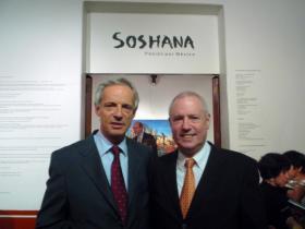 Austrian Ambassador to Mexico Dr. W. Druml; Amos Schueller