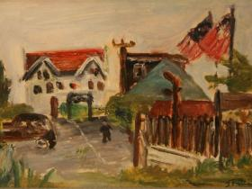 Cop (1944)   Oil on Cardboard   25 x 38 cm