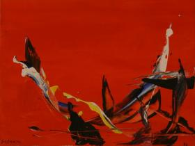 Red Abstraction II. (1988)   Acryl on Canvas   35 x 45 cm