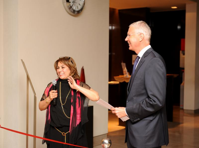 Cynthia Richards and the Austrian Ambassador Peter Elsner-Mackay