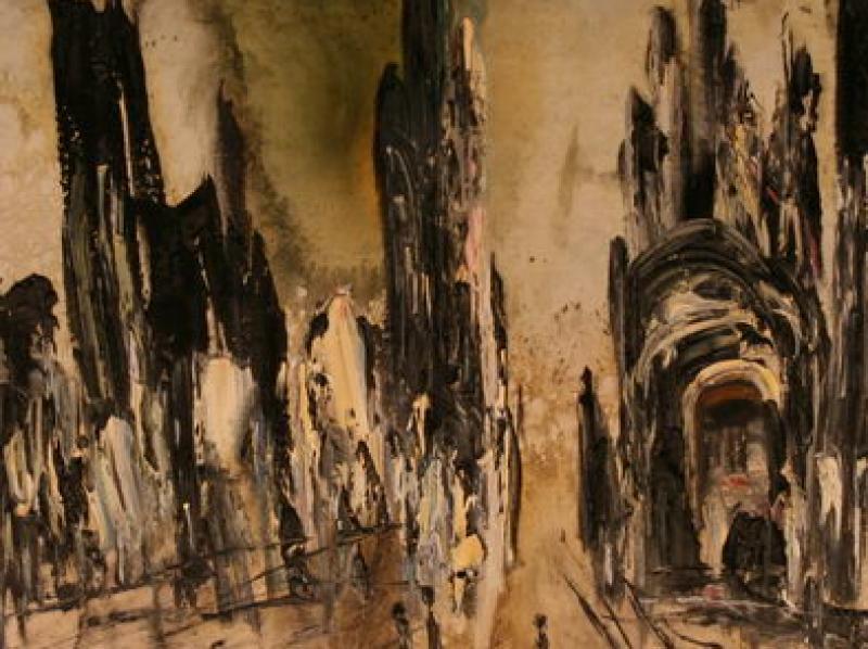 War in Bosnia I. (1993)   Oil on Canvas   100 x 65 cm