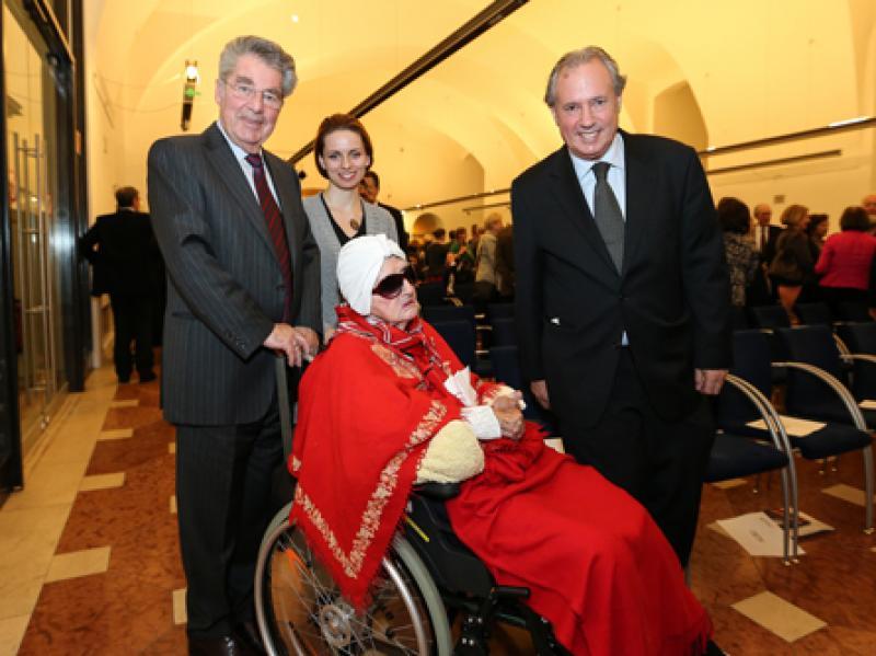 Soshana, President Heinz Fischer, Krasena Tsotsomanska & Amos Schueller
