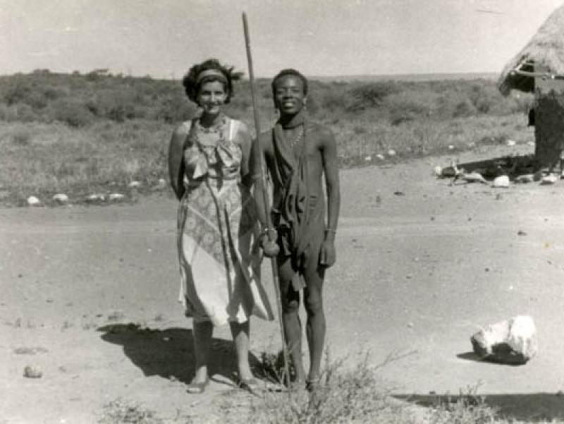 Soshana with tribal people | Africa 1959