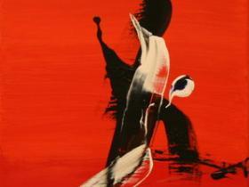 Sunrise IV. (1991) | Acryl on Canvas | 80 x 40 cm
