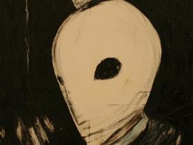 Terrorist in Munich (1972) | Oil on Canvas | 115 x 72 cm