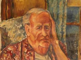 Dr. Seymor Steadman - Progressive Lawyer (1944)   Oil on Canvas   73 x 51 cm