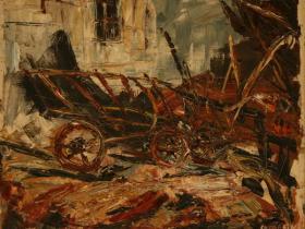 Farm (1944)   Oil on Canvas   46 x 56 cm
