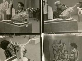 Soshana in museum, contact prints | Paris 1956