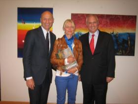 Consul General of Austria, Martin Weiss, his wife and Amos Schueller