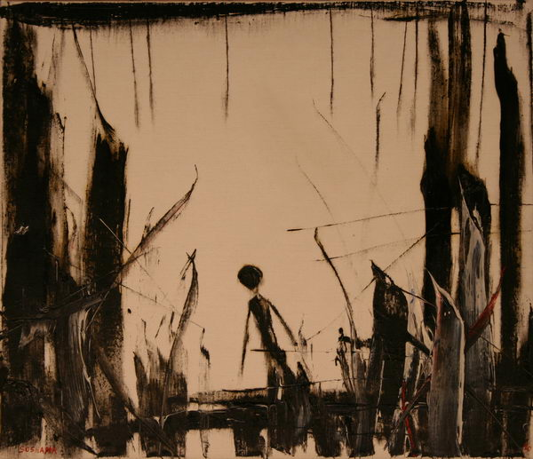 Alone V. (1990) | Oil on Canvas | 60 x 70cm