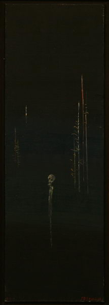 Alone in New York III. (1973) | Oil on Canvas | 60 x 20 cm
