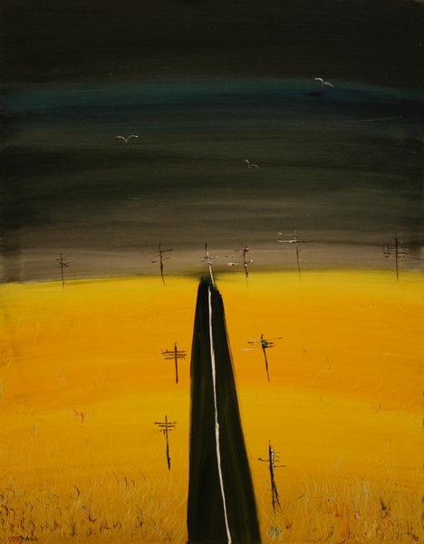 Road (1990) | Acryl on Canvas | 90 x 70 cm