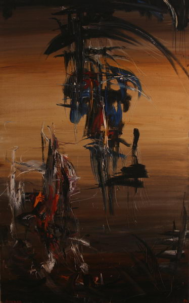 Between Heaven and Earth I. (1964) | Oil on Canvas | 130 x 81 cm