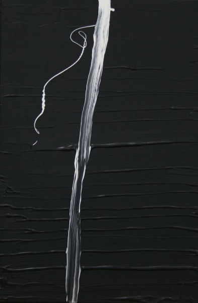 White Lines on Black II. (2008) | Acryl on Canvas | 60 x 40 cm