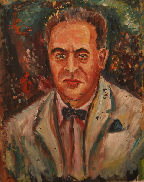 Bruno Walter - Conductor and Composer (1945)   Oil on Canvas   74 x 59 cm