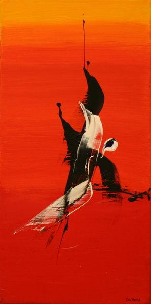 Sunrise IV. (1991)   Acryl on Canvas   80 x 40 cm