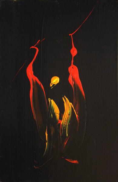 Fire on Black (2007) | Acryl on Canvas | 60 x 40 cm