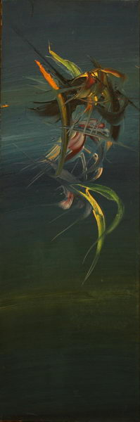 Bird in Blue (1970)   Oil on Canvas   120 x 40 cm