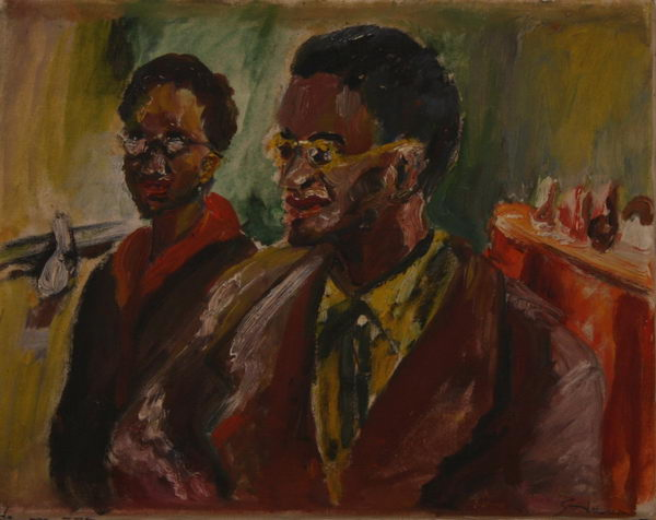 Two Black Youths (1944)   Oil on Canvas   35 x 44 cm