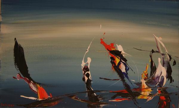 Carneval in Venice (1990) | Acryl on Canvas | 40 x 65 cm