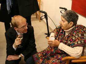 "Martin Rauchbauer, director of the ""Deutsches Haus"" at the NY University with Soshana"