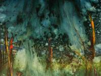 In the Rainforest (1990)   Oil on Canvas   100 x 70 cm