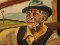 An old Laborer (1945) | Oil on Cardboard | 25cm x 38 cm