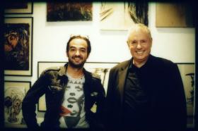 Dr. Helmi Mubarak (gallery lendnine) and Amos Schueller
