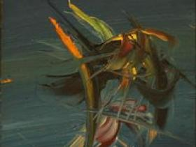 Bird in Blue (1970) | Oil on Canvas | 120 x 40 cm