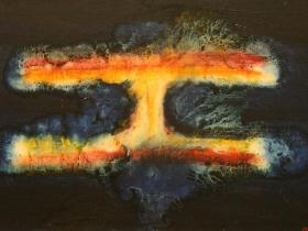 Atomic Explosion I. (1970) | Oil on Canvas | 65 x 100 cm