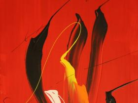 Red Fire (2007) | Acryl on Canvas | 60 x 40 cm