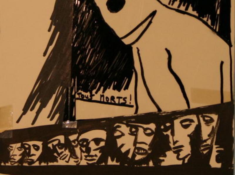 Munich Massacre (1972) | Ink on Paper | 30 x 24 cm