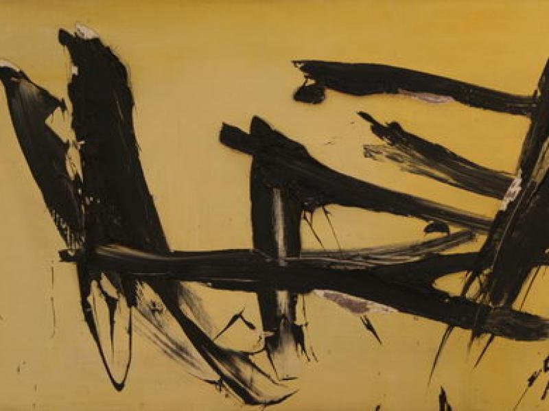 Black White Yellow (1957) | Oil on Canvas | 50 x 100 cm