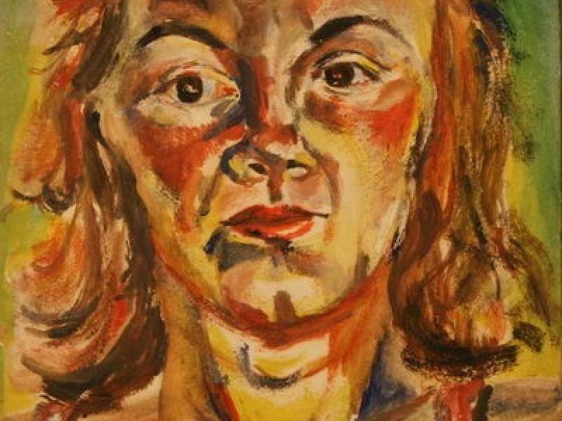 Portrait of a woman (1943) | Oil on Cardboard |  38 x 25 cm