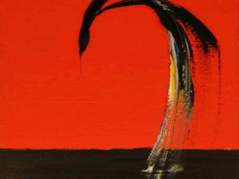 Over the Horizon (1993)   Acryl on Canvas   100 x 50 cm