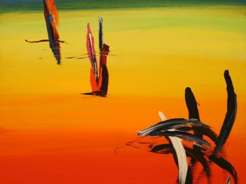 Rainbow (Stamp) (1981) | Oil on Canvas | 101 x 76 cm