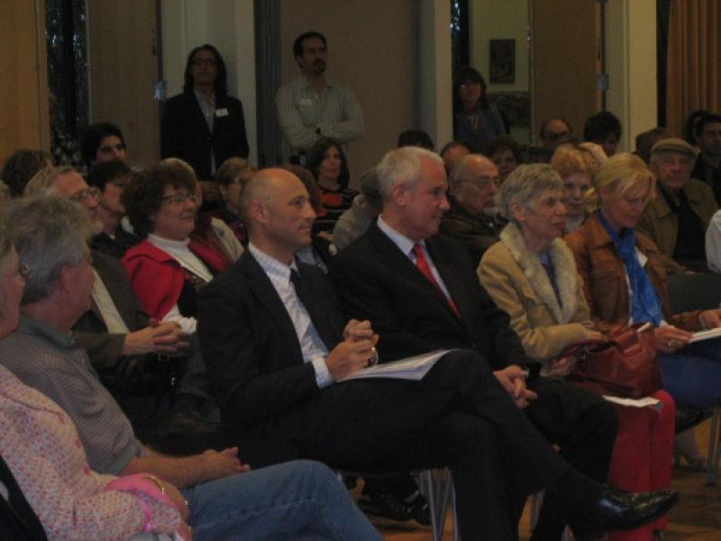 Guests Attending Opening Speeches; in the front row: Consul General of Austria, Martin Weiss and son of the artist, Amos Schueller