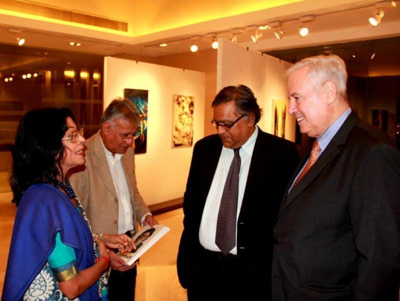 Naresh Kapuria, Munish Bahl, Shovana Traxl Narayan & A. Schueller   © Mirka Heinz